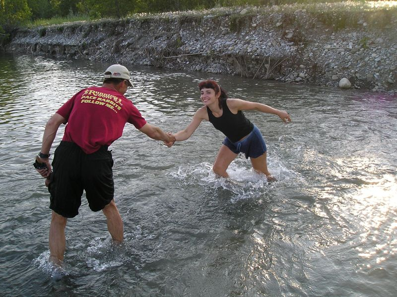 Crossing the Elbow River